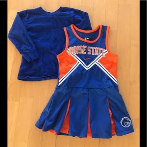 Boise State Kids Cheerleading Outfit w Blue Shirt!